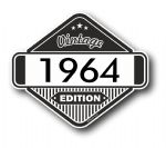 VIntage Edition 1964 Classic Retro Cafe Racer Design External Vinyl Car Motorcyle Sticker 85x70mm